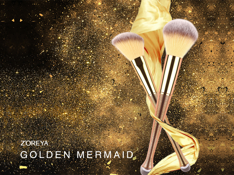 8Pcs Mermaid's Rose Gold Makeup Brush Set