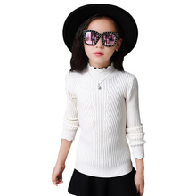 Children Clothing 2017 New Autumn and Winter Girls' Sweaters Cotton Fashion O-Neck Pullover Wool Knitted Kids Outerwear XL216