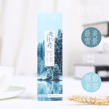30 pcs/lot China Beautiful Winter Forest Bookmark Original Forest Book Mark Set School Stationery Office Supplies