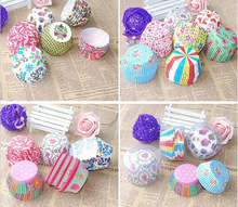 New Cute 100Pcs Cartoon Greaseproof Round Cupcake Paper Cake Cup Holder Muffin Cases Party