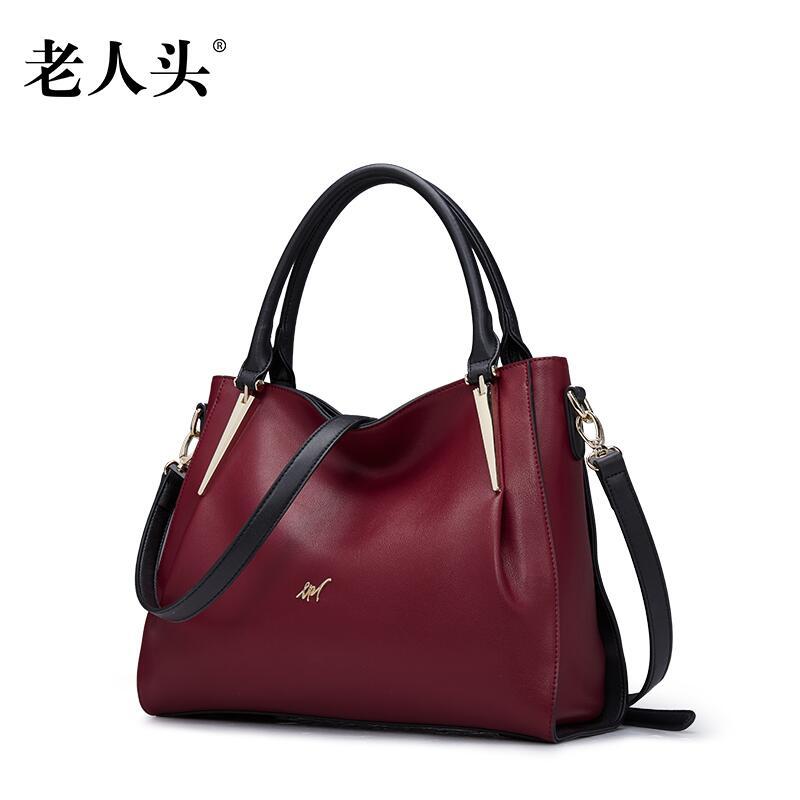 LAORENTOU New luxury handbag women bag designer genuine leather bag fashion Panelled Killer bag  Tote women leather shoulder bag<br><br>Aliexpress