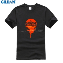 Gildan Tshirt MARVEL Cotton T-Shirt Men Large World Of Warcraft For The Horde Mens T Shirt Fashion 2017(China)