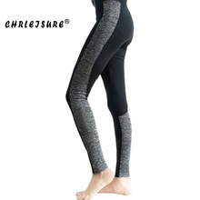 Buy Chrleisure S-XL Color Patchwork Leggings Women Elasticity Fitness Legins Pants Workout Trousers Big Size Black Grey Leggings for $8.18 in AliExpress store