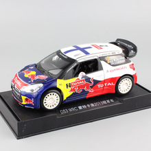 1:26 Scale kid's 2013 red bull Citroen DS3 WRC rally car Race No.2 M.Hirvonen pull back sound light diecast metal model toy boys