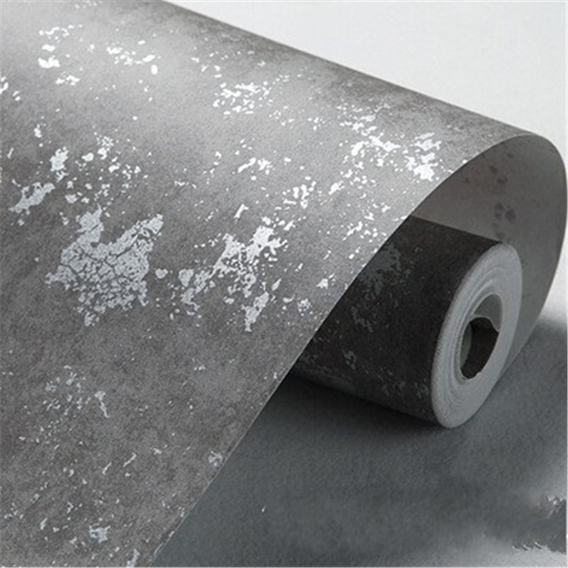 beibehang Fashion retro gray imitation cement wall wallpaper store decoration modern simple living room non - woven wallpaper<br>
