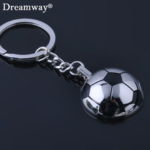 football keychains metal half ball soccer key chains World Cup souvenir keyring holder for sport lover factory wholesale retail