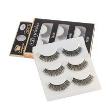 3 Pair/Set 3D Cross Black Thick False Eyelashes Eye Lashes Extension Makeup Super Natural Long Fake Eyelashes(China)