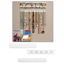 GENBOLI 3pcs/set Jewelry Organizer Holder Packaging Set Earring Necklace Sticky Hanger Hooks Display Jewellery Rack Wall Stand