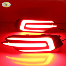 Led rear driving lights for Honda Civic 2016 2017 Led Brake Lights rear bumper lamp warning light