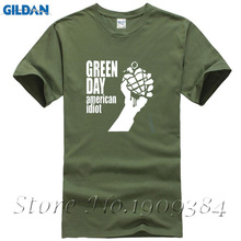 2017 New Fashion Men'S T Shirts Green Day American Idiot(China)