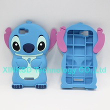 3D Fashionable Silicone Lovely Minions Case Wiko Rainbow Back Cover Latest Popular Lilo & Stitch Cute Cartoon Cases Wiko Rainbow
