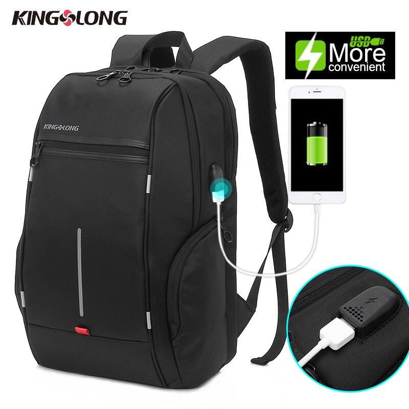 KONGSLONG New Anti Theft Backpack Water Resistant Travel Backpack USB Charging Port For Smartphone Backpack Daypacks Mochila #<br>