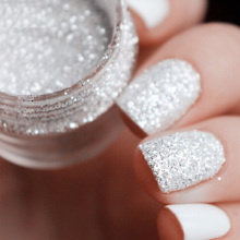 Mixed Laser Nail Glitter White Silver Glitter Powder for Nails Glitter Powder 1mm & 2mm & 3mm Nail Art Decoration SF0054