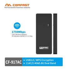 COMFAST 1750Mbps Gigabit Ethernet usb network card CF-917AC 802.11ac 5G dual band USB Wi-FI dongle USB3.0 ac wifi adaptor router(China)