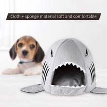 TOPINCN Shark Shape Pet Dog Bed Soft Warm Dog House Tent For Large Dogs Cute Puppy Cat Bed Nest Kennel cama perro(China)