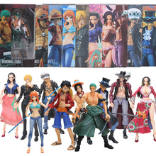 16-18cm Box VAH Variable Luffy Ace Zoro Sabo Nami Robin Mihawk Action Figure One Piece Collectible Model Dolls Toy brinqudoes be