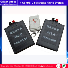 1 remote control 2 pcs receiver Stage pyrotechnic fountain fireworks firing system Wireless Igniter Fireworks firing machine