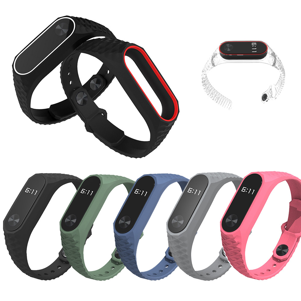 1pc High 210mm Smart Watch Band Durable Replacement TPU Anti-off Wristband Xiaomi Mi Band 2 #SW