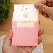 10pcs/lot Korean Thanksgiving mini cards as greeting cards / blessing cards / message cards /gift for your friends(China)