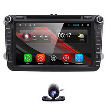 4G Android 6.0 Quad Core 2 Din Stereo 1024X600 Car DVD Player for Volkswagen Golf Plus Golf R Polo EOS (DTV DAB+ Optional) DVB-T