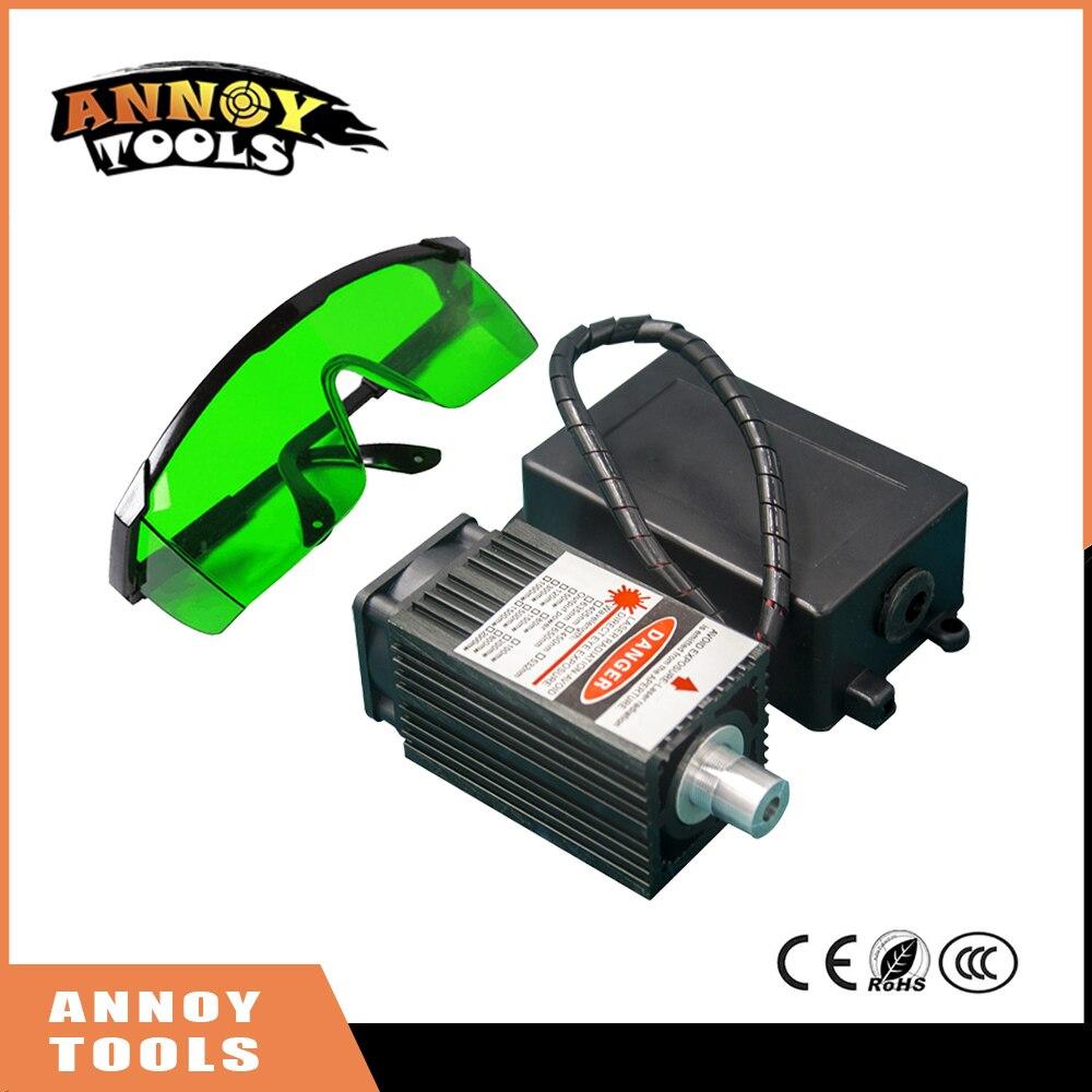 Free Shipping 405nm 500 mW 12V High Power TTL Adjustable Focus Blue Laser Module DIY Laser engraver accessories 0.5W laser head <br>