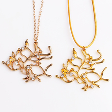 rongji jewelry Moive Beauty and the Beast golden Crystals Tree long Necklace Pendant for men and women factory outlet