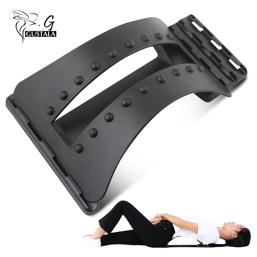 Gustala Back Massager Stretcher Fitness Massage Equipment Stretch Relax Stretcher Lumbar Support Spine Pain Relief Chiropractic(China)