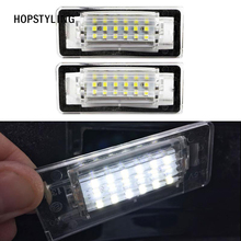 Car-styling 2x super white 18SMD LED License Plate Light Bulbs for AUDI TT 8N 1999~2006 Auto replacement auto accessories(China)