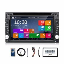 New universal Car Radio Double 2 Din Car DVD Player GPS Navigation USB In dash Car PC Stereo Head Unit video+Free Map subwoofer(China)
