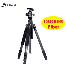 Sinno F3425Z Carbon Fiber SLR Tripod Portable Camera Tripod  Photographic Tripod Monopod Stand Ball Head better than Z688