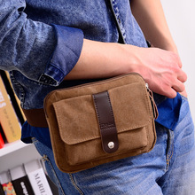 Casual Canvas Waist Bags Men And Women Funny Pack Men's Belt Bag Man Chest Pack For Phone Bags Bum Bag Male Portable Belt Pouch