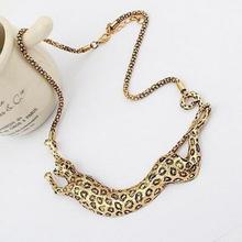 URORU collier femme Leopard necklace collares statement choker gold jewelry women stainless steel accessories wholesale china