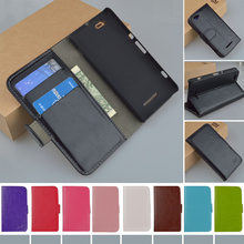 C1905 Flip Wallet Stand PU Leather Case For Sony Xperia M C1905 C1904 Dual C2004 C2005 Phone Cover With Card Holder J&R Brand(China)