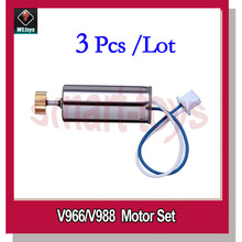 3Pcs Original V966-010 Main Motor for Wltoys V966 V988 RC Helicopter Spare Parts