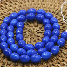 7x9mm Hot Sale Accessories Imitation Pearl Blue Glass Beads Diy Loose Stone Fashion Jewelry Making Design Women Girl Gift Gems