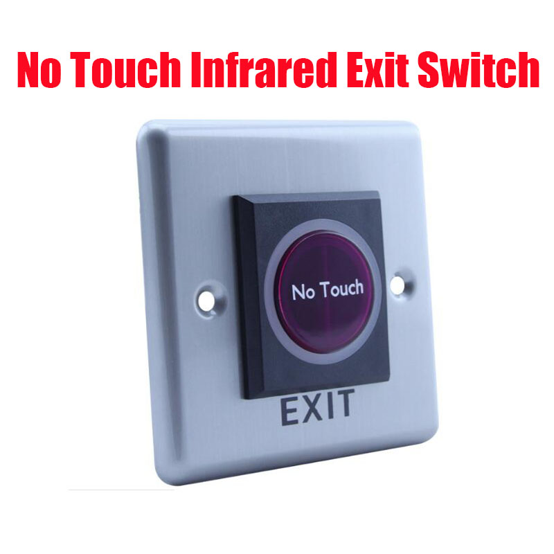 Free Shipping  Infrared Sensor No Touch  Exit button Door Release exit switch with NO/NC/COM interface<br><br>Aliexpress