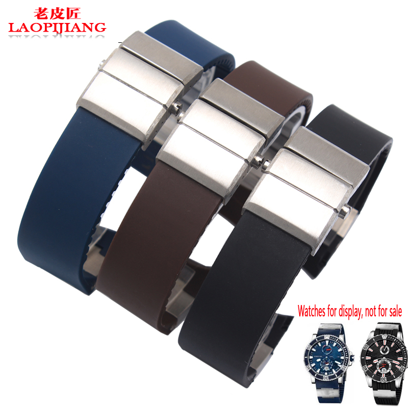 Quality Silicone Watch band 22mm For 265-90-3T/93 Silicone Watch strap Special interface Alternative watchband Strap Bracelet<br>