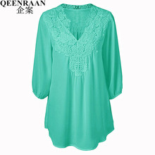 Summer Elegant Women Lace Blouses Floral Crochet Chiffon Shirt Ladies Shirts Top Femme Pullover Basic Wear Plus Size S-5XL