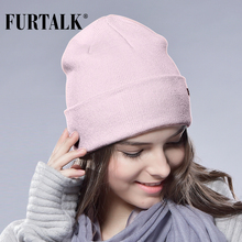 FURTALK Winter Hats for Women Men Knitted Beanie Hat Cap for Girls Wool Brand Hat Female and Male Skullies Couples Stocking Hats