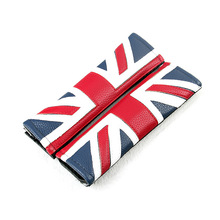 PU Leather British flag Car shoulder pads Interior decoration Car seat belt shoulder pads Stickes for BMW Mini Car styling DIY(China)