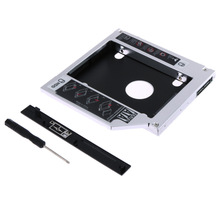 "Universal Aluminum 2.5""SATA 12.7mm HDD Enclosure SSD Hard Drive Case Caddy Adapter Bay External Optical DVD Bay Adapter"