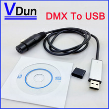 MINI USB to DMX 512 Interface Adapter Controller DMX512 PC Stage Lighting Controller Dimmer Dongle Freestyler 512-USB