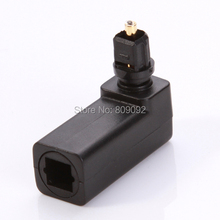 Optical Male to Female Right Angle 90 Degree Toslink SPDIF Joiner Adapter