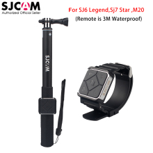 100% Original Sjcam Remote Watch + Remote Monopod for Sjcam M20 Sj6 Legend Sj7 Star Sports Action Camera DVR