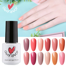 Gelfavor Nude Red Pure Color Series UV Gel Polish 7ml Soak Off UV LED Nail Gel Polish Nail Lacquer Esmalte Pigment Nail