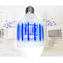 Dual Use Electric LED Night Light Bug Zapper Light Bulb Mosquito Repellent Killer Light 15W Screw Lamb Base for US 110V/EU 220V(China)