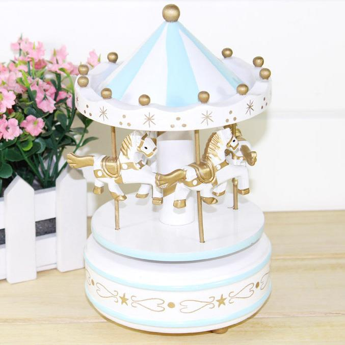 Merry Go Round Carousel Music Box Wedding Christmas Kids Birthday Gift Musical Boxes Toy Caja Cajas Musicales Home Decor In From