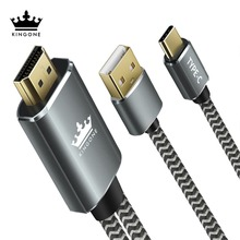 Kingone USB Type c 3.1 HDMI Cable Thunderbolt Adapter For MacBook Samsung S8 Huawei Mate 10 Type C to HDMI Converter(China)