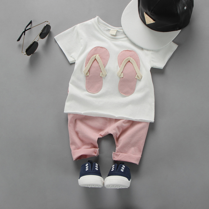 2017 Baby Clothes Set Summer Style Short Sleeve+Pants 2pcs Clothing Set Fashion Cotton Infant Baby Girl Clothing Suits<br><br>Aliexpress