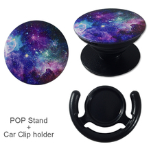 POP Phone Stand with Car Clip Holder, Mount, Expanding Stand Grip Mount Socket Kickstand For iPhone 5,6,7,plus&mobile phones